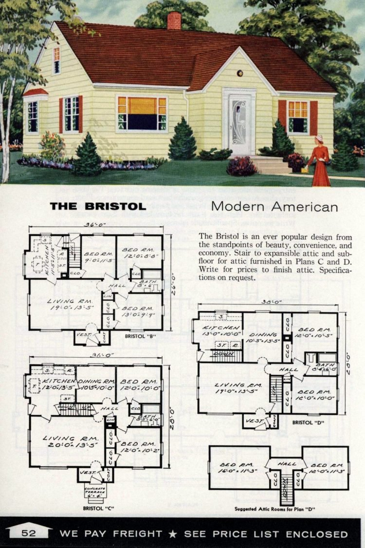Vintage home plans from 1961 by the Aladdin Company (34)