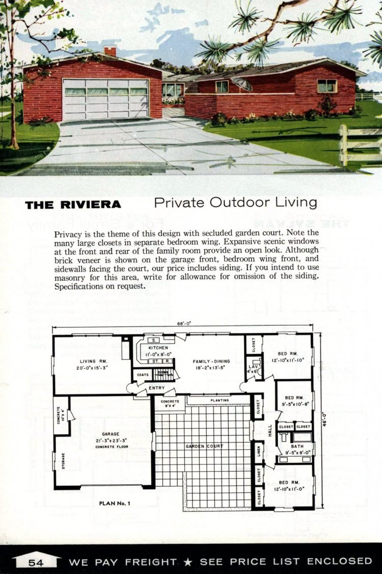 Vintage home plans from 1961 by the Aladdin Company (36)