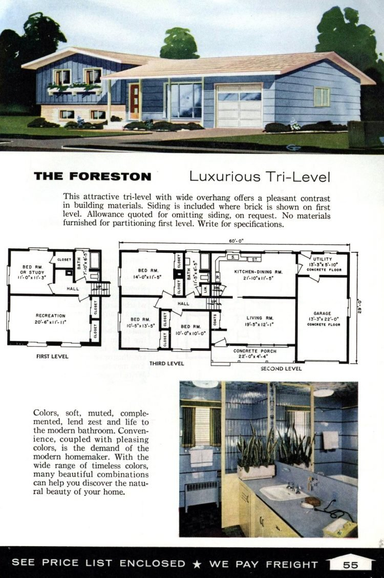 Vintage home plans from 1961 by the Aladdin Company (37)
