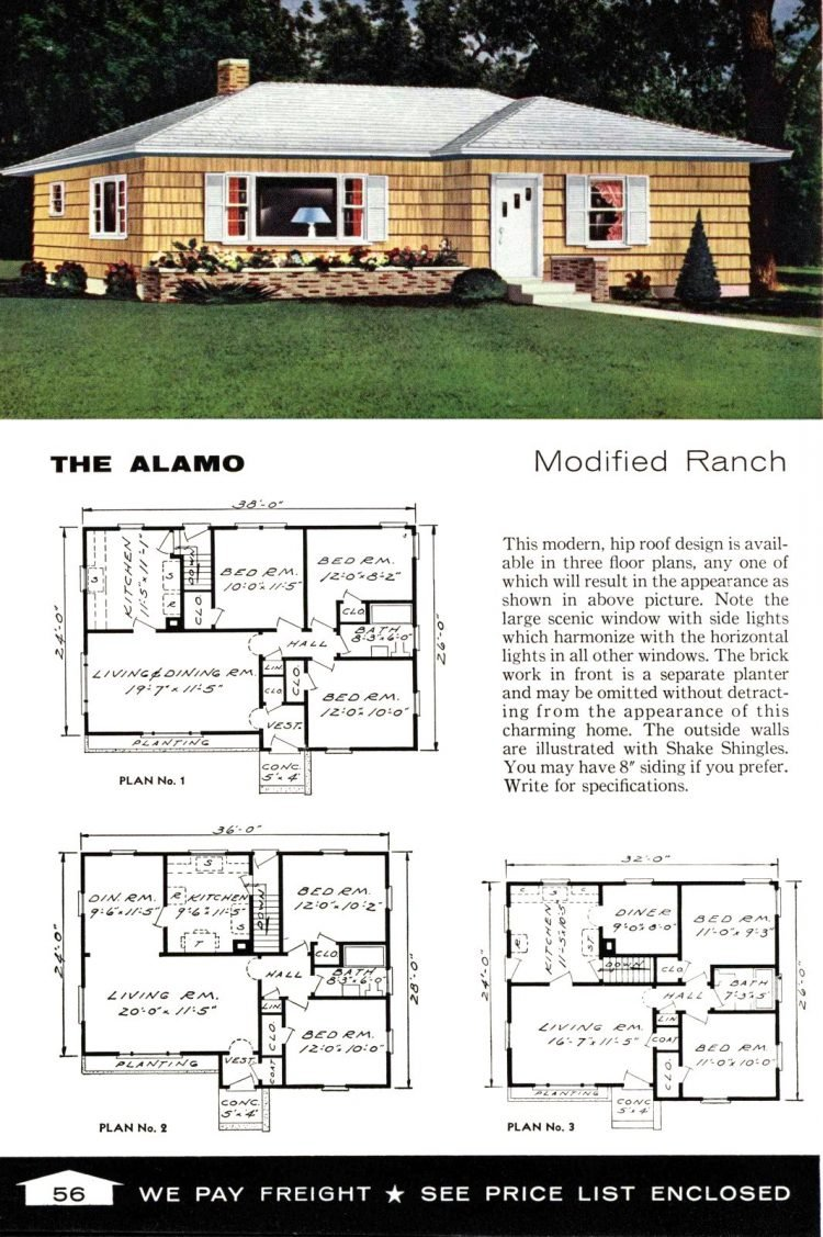 Vintage home plans from 1961 by the Aladdin Company (38)
