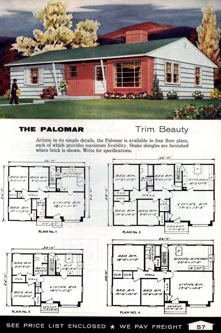 Vintage home plans from 1961 by the Aladdin Company (39)