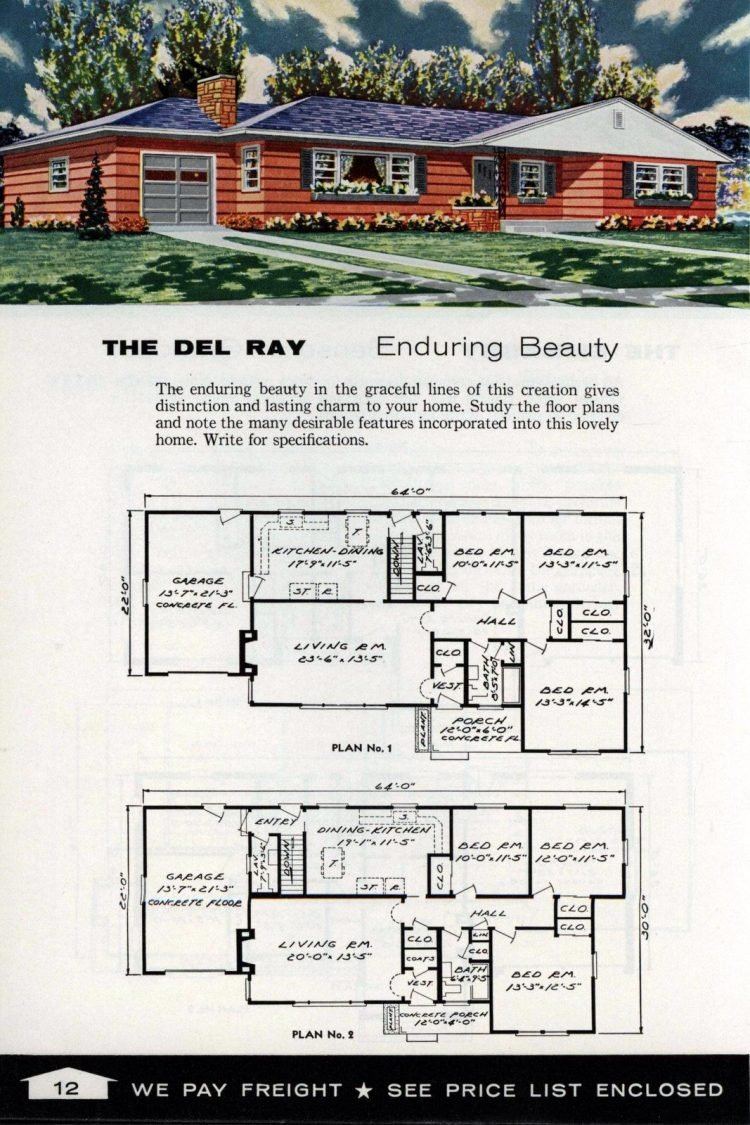 Vintage home plans from 1961 by the Aladdin Company (4)