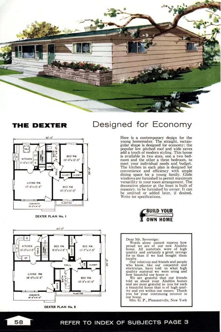 Vintage home plans from 1961 by the Aladdin Company (40)