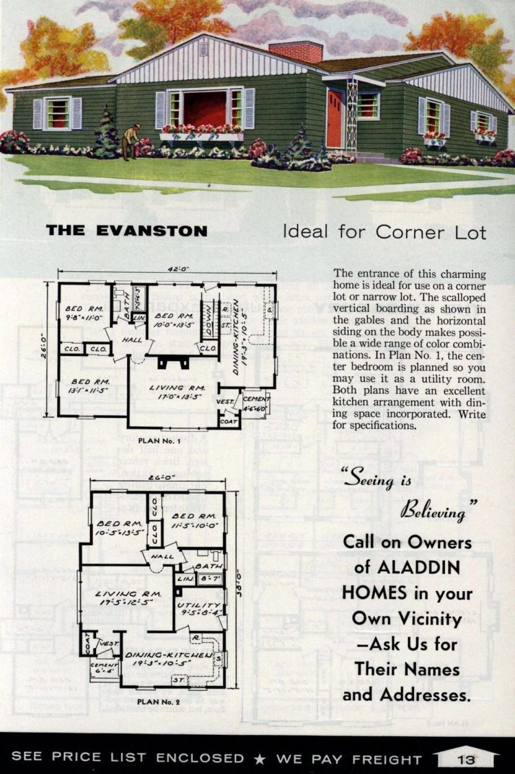 Vintage home plans from 1961 by the Aladdin Company (5)
