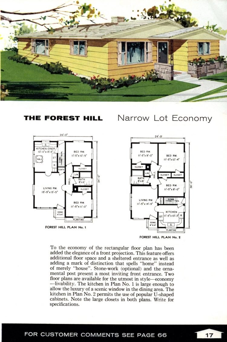 Vintage home plans from 1961 by the Aladdin Company (7)