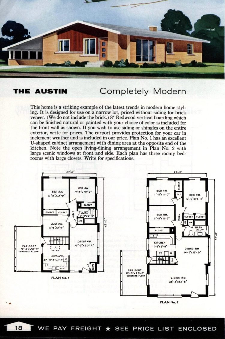 Vintage home plans from 1961 by the Aladdin Company (8)