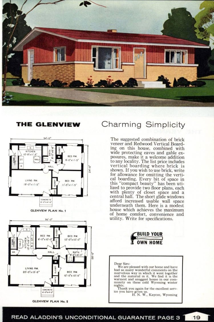 Vintage home plans from 1961 by the Aladdin Company (9)