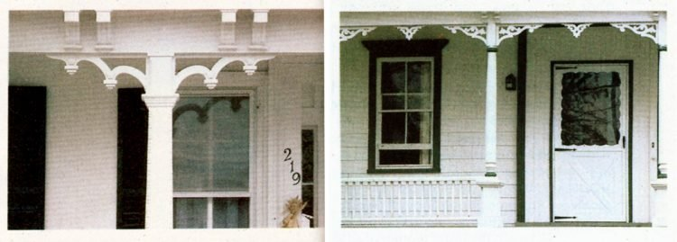 Vintage homes - wood trim ideas for the front porch (3)