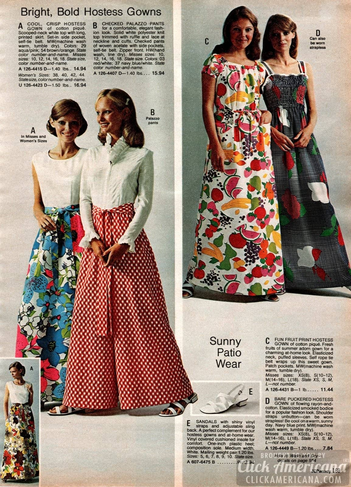 Vintage hostess gowns - Clothes from the 70s