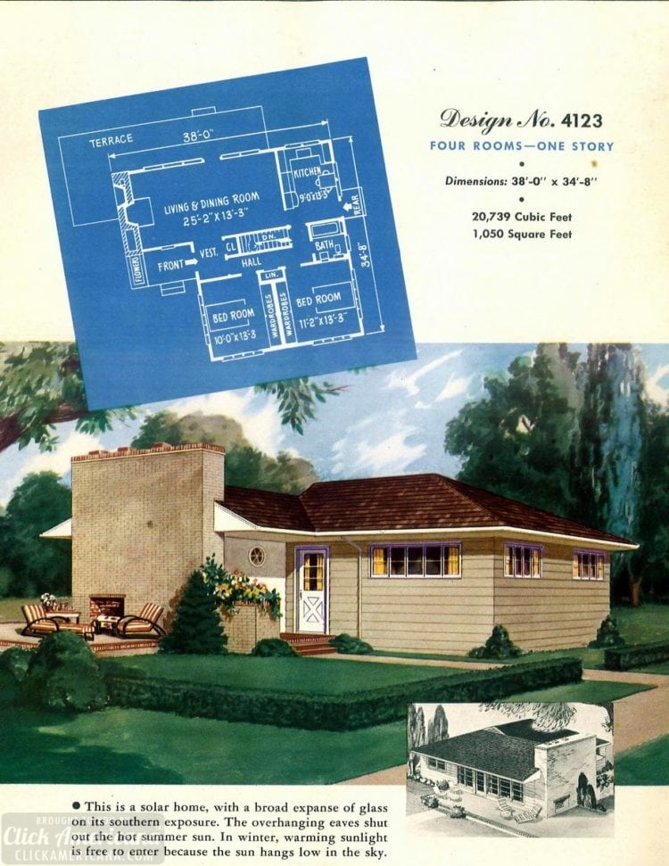 Vintage house plans from 1951 for small suburban homes - at Click Americana (5)