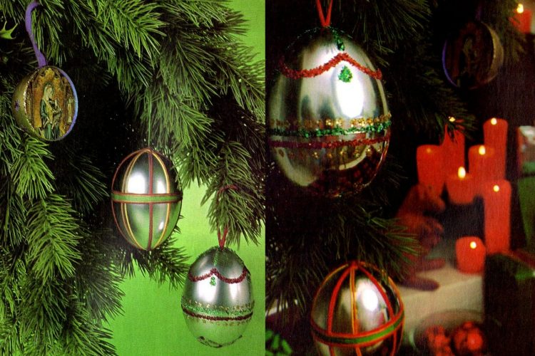 Vintage how-to Make fun Christmas ornaments from old L'eggs pantyhose eggs
