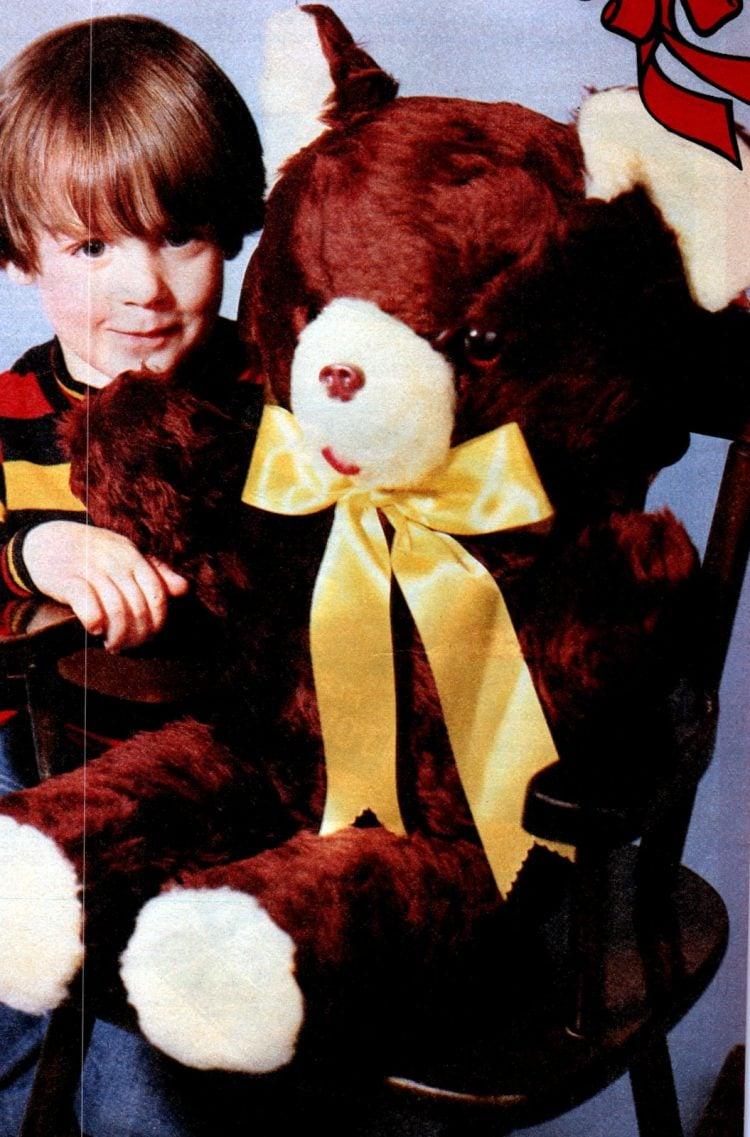 Vintage huge stuffed teddy bear from the 80s