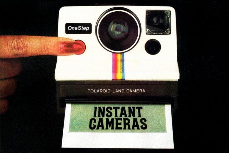 Vintage instant cameras - Polaroid and Kodak