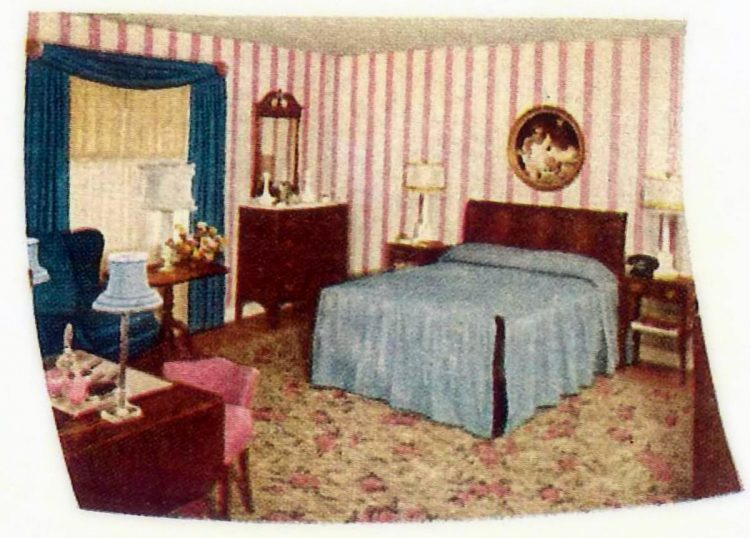 Vintage interior design bedroom in 1940s - Before