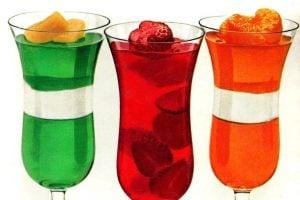 Vintage jello desserts