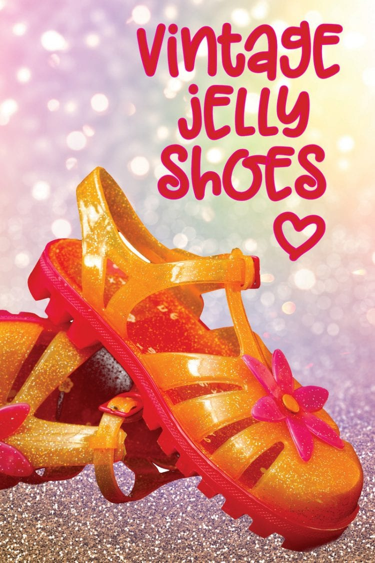 Vintage jelly shoes love