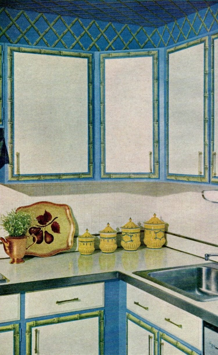 Vintage kitchen cabinet makeovers from the 1960s (4)