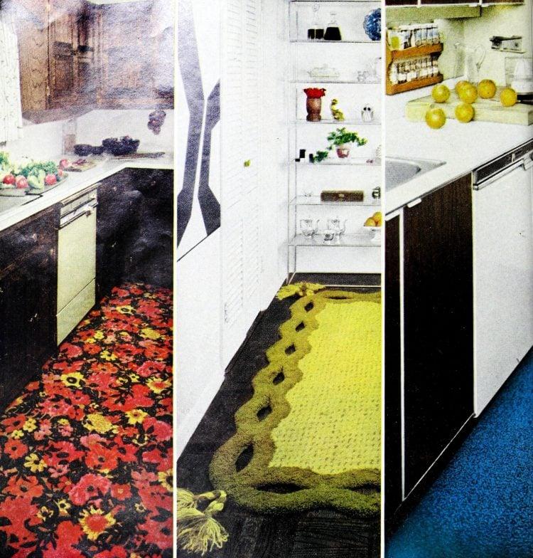 Vintage kitchen carpet patterns