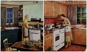 Vintage kitchen designs 1954