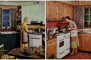 Vintage kitchen designs 1954