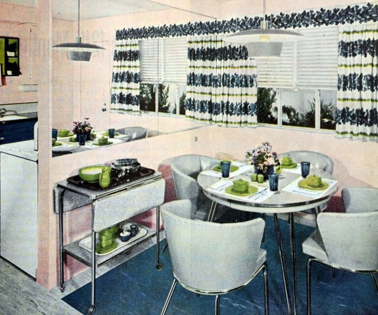 Vintage kitchen draperies from 1951