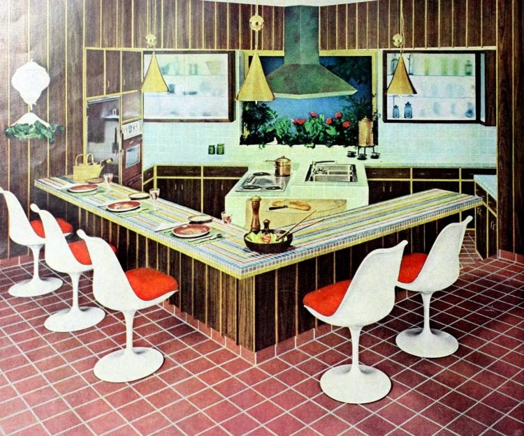 Vintage kitchen islands from the 1960s - home decorating (1)
