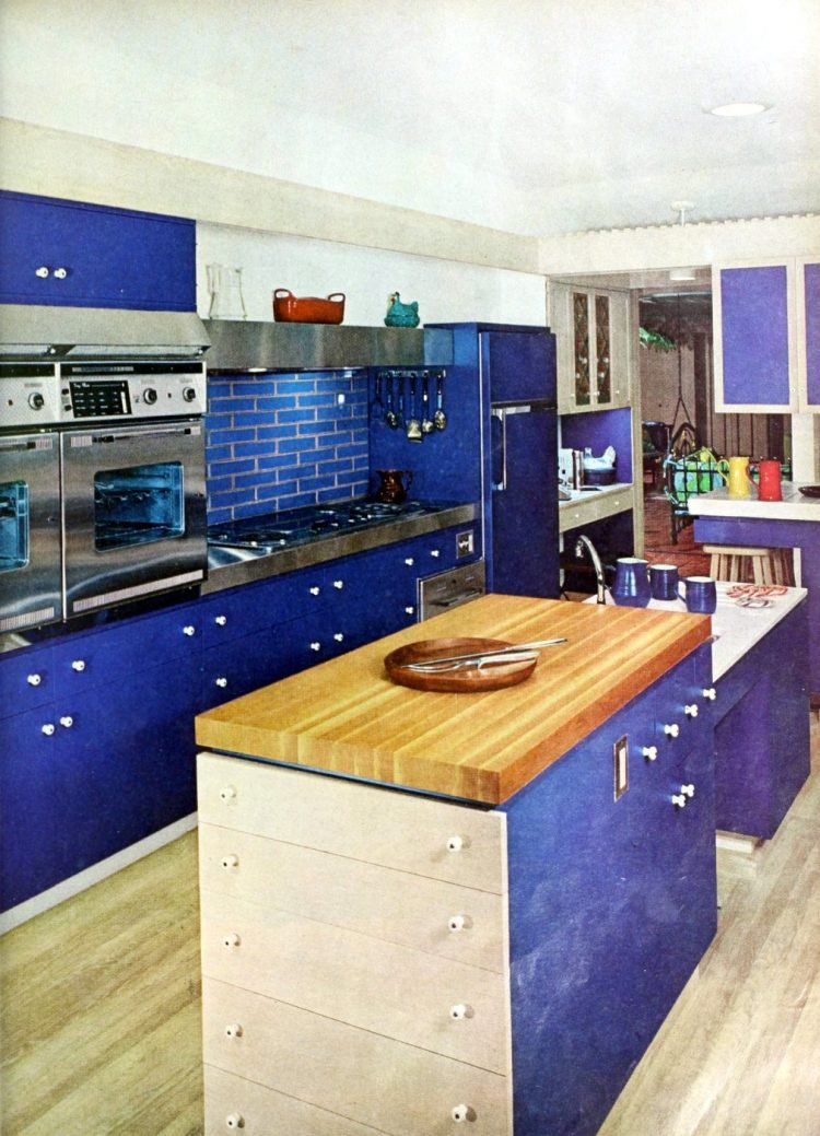Vintage kitchen islands from the 1960s - home decorating (2)