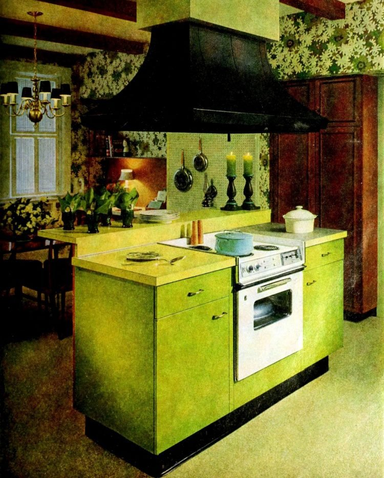 Vintage kitchen islands from the 1960s - home decorating (3)