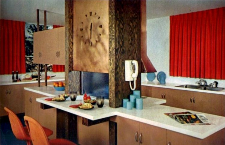 Vintage kitchen pass-thru - home decor from the 1960s