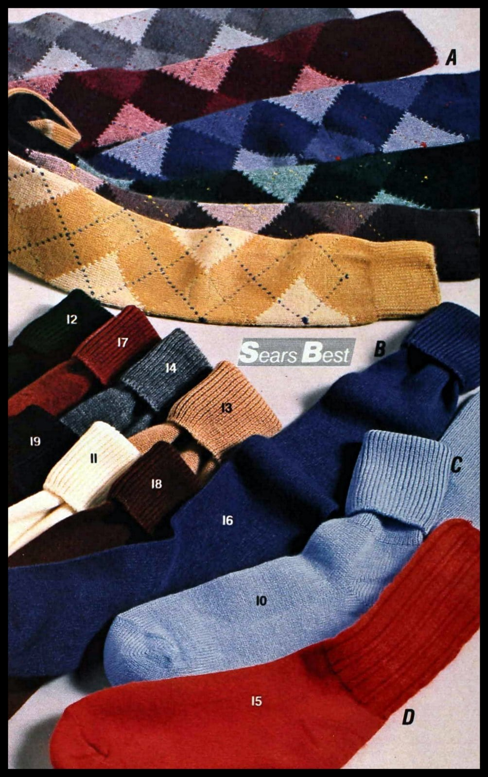 Vintage knee sock styles from the late 1980s (3)