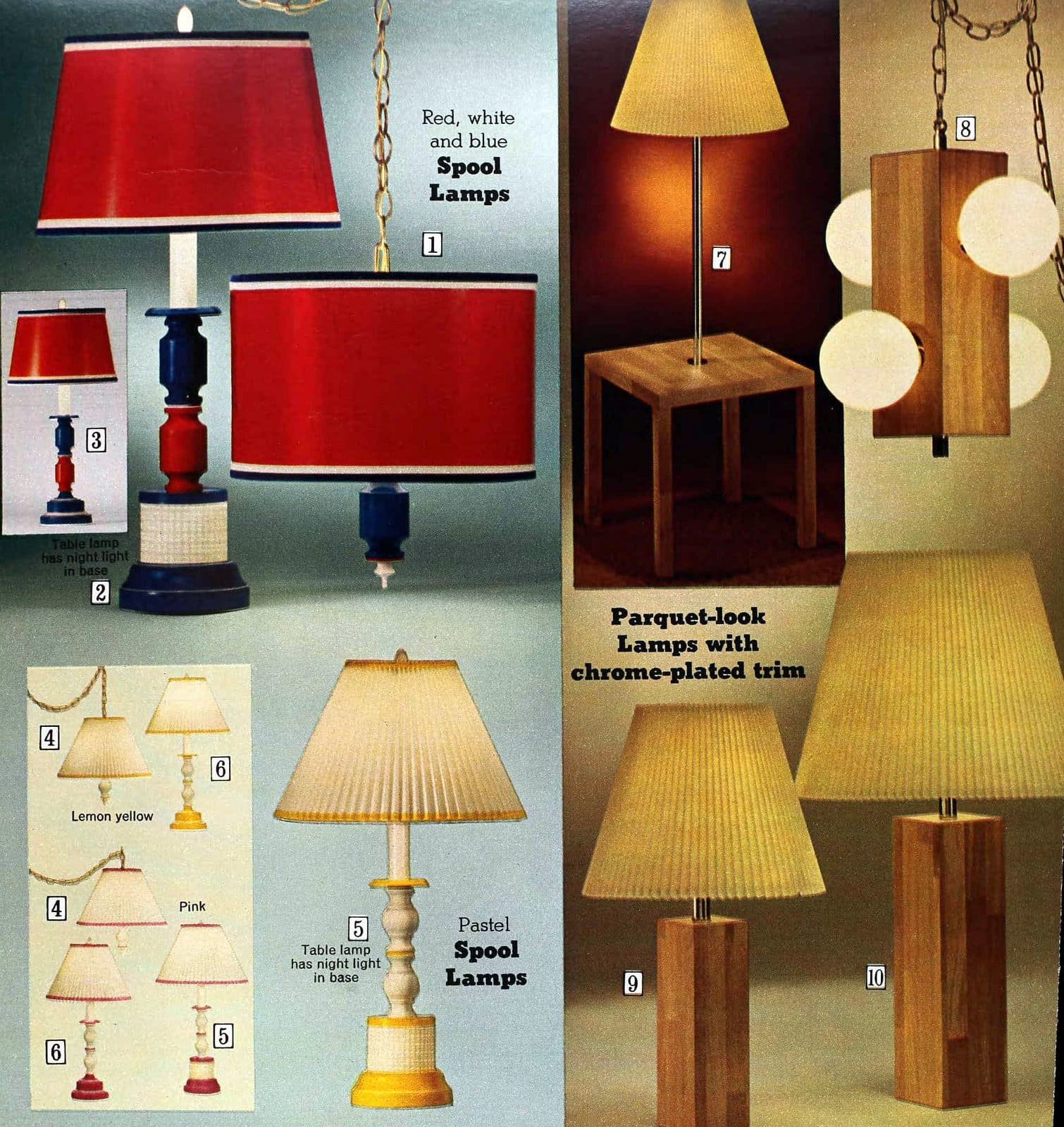 Vintage lamps and retro shades (1973)