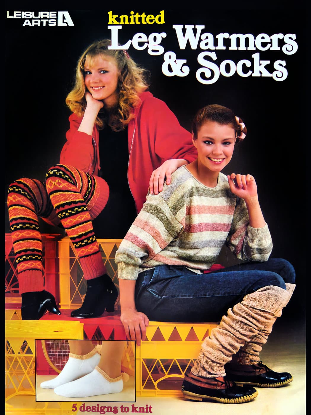 Vintage leg warmers - worn with jeans - in the eighties