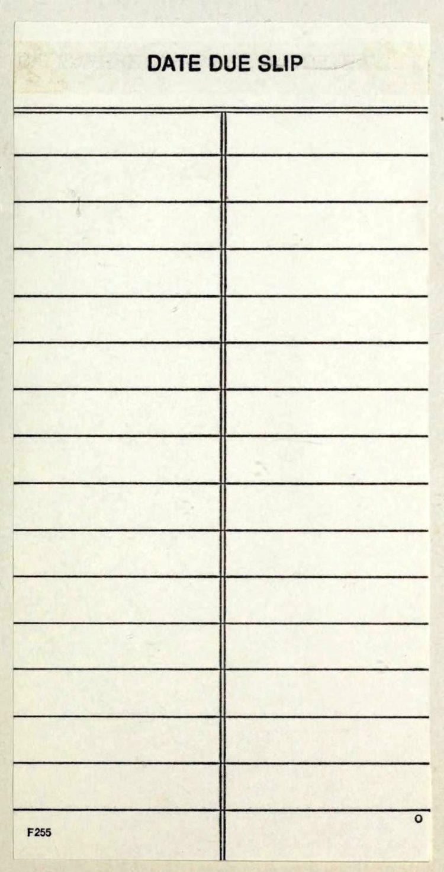 Vintage library blank due date slip