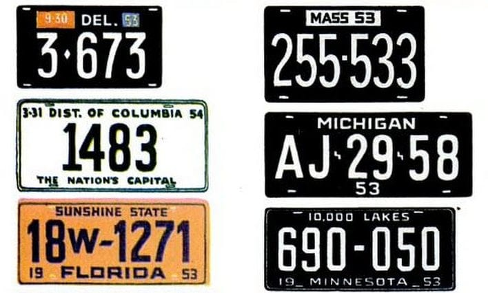 Vintage license plates from 1953 (4)