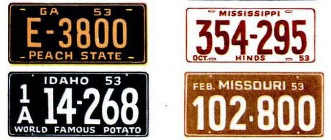 Vintage license plates from 1953 (5)