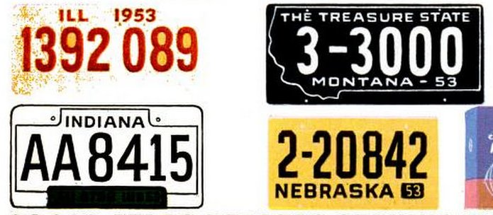 Vintage license plates from 1953 (6)