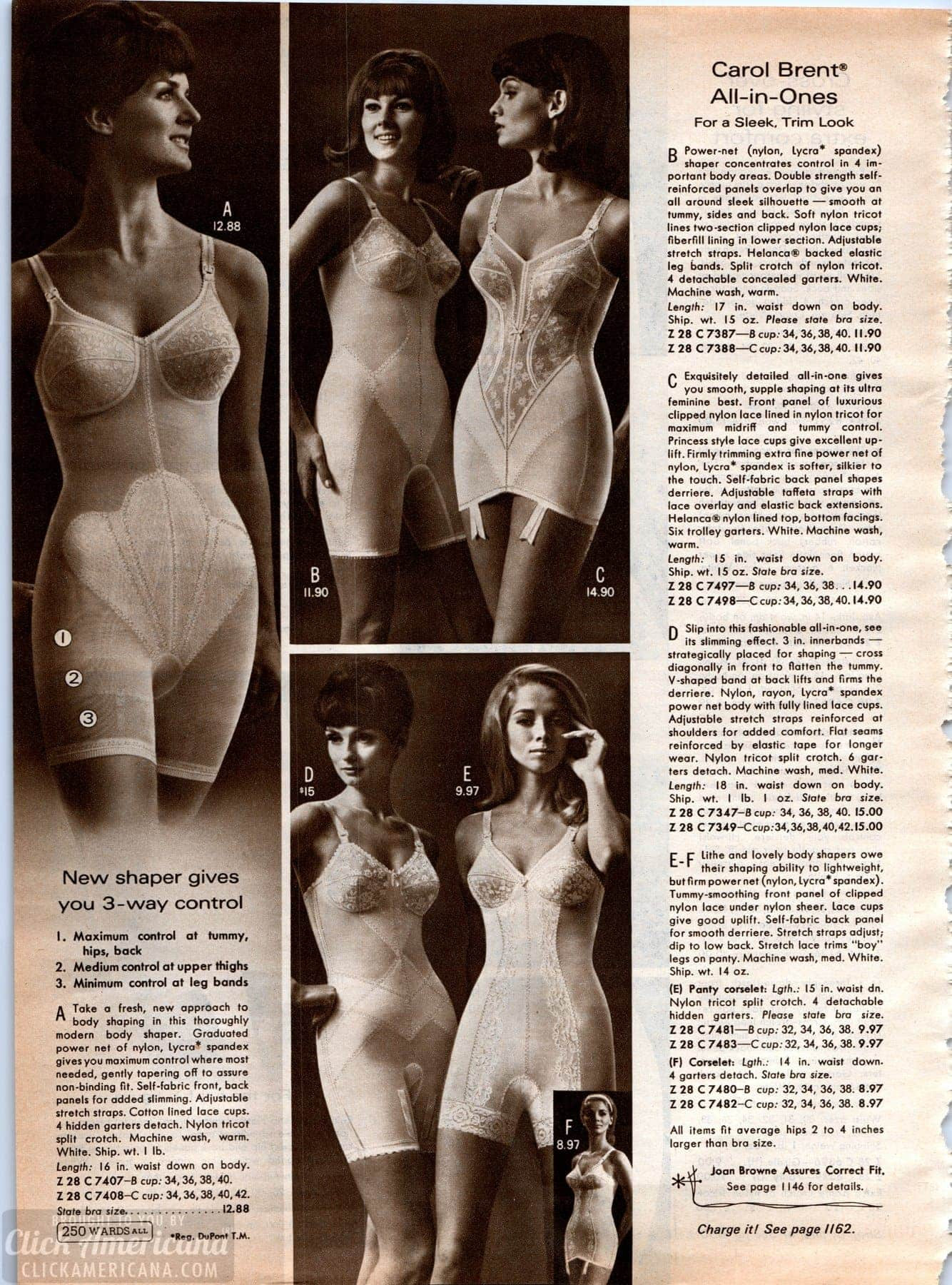 1a36b58cb2d Vintage lingerie - all-in-one body shapers from the 60s - Click ...