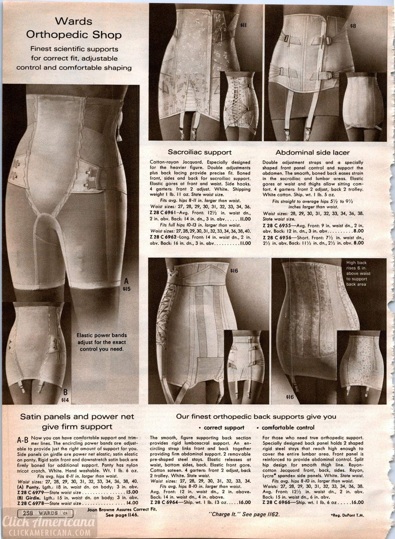 Vintage lingerie - orthopedic girdles and shapers