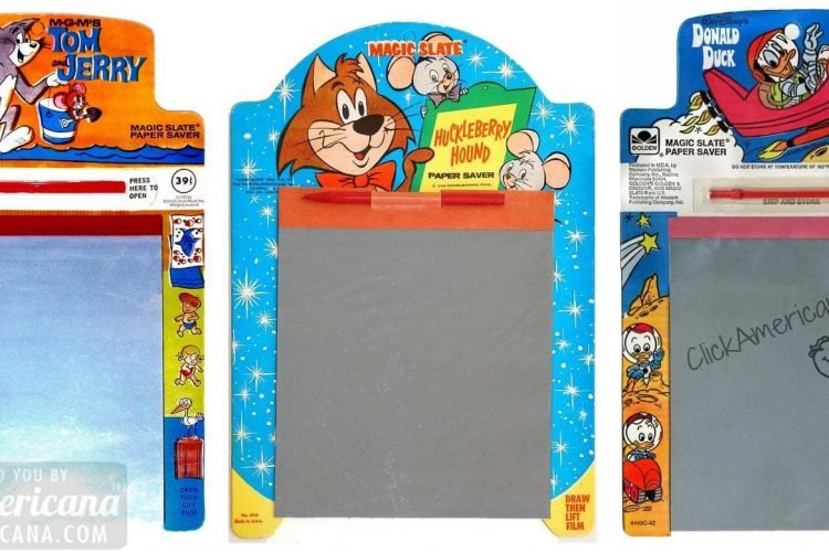 Vintage magic slate toys Donald Duck, Huckleberry Hound and Tom and Jerry