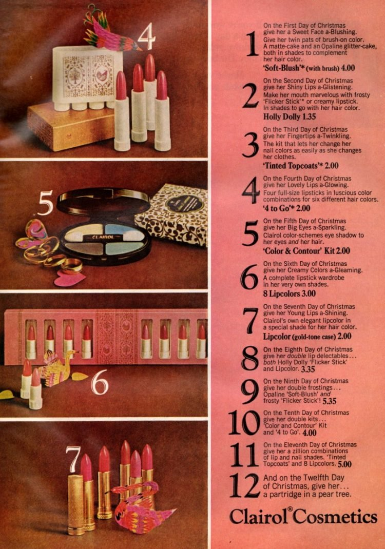 Vintage makeup gift sets from Clairol, based on hair color 1966 (2)