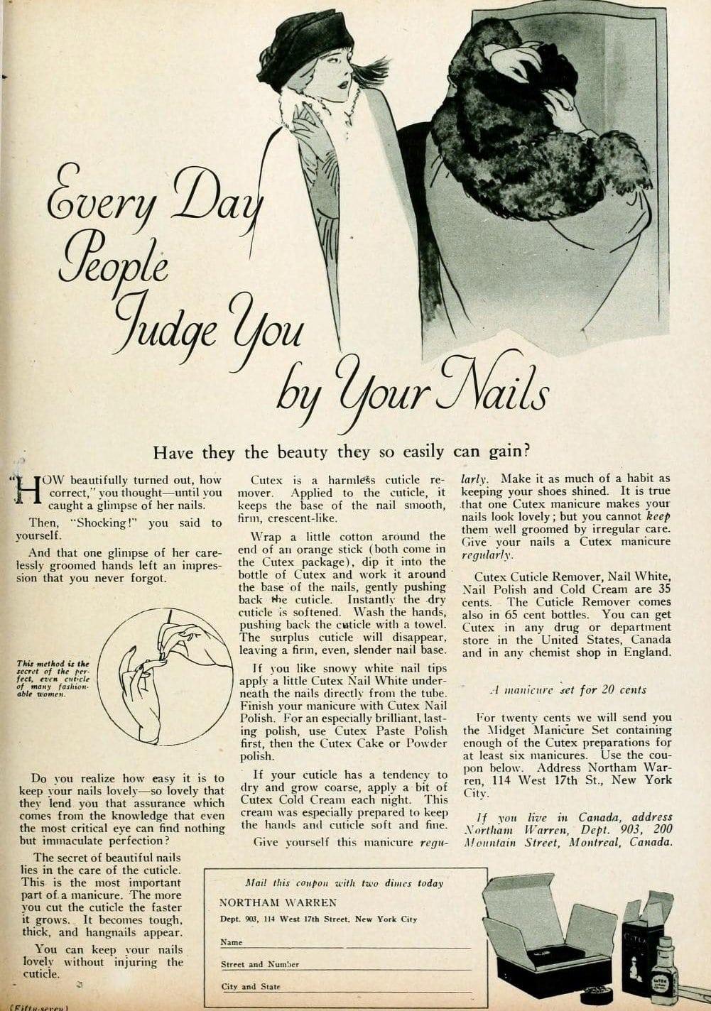 Vintage manicure kits (1920)
