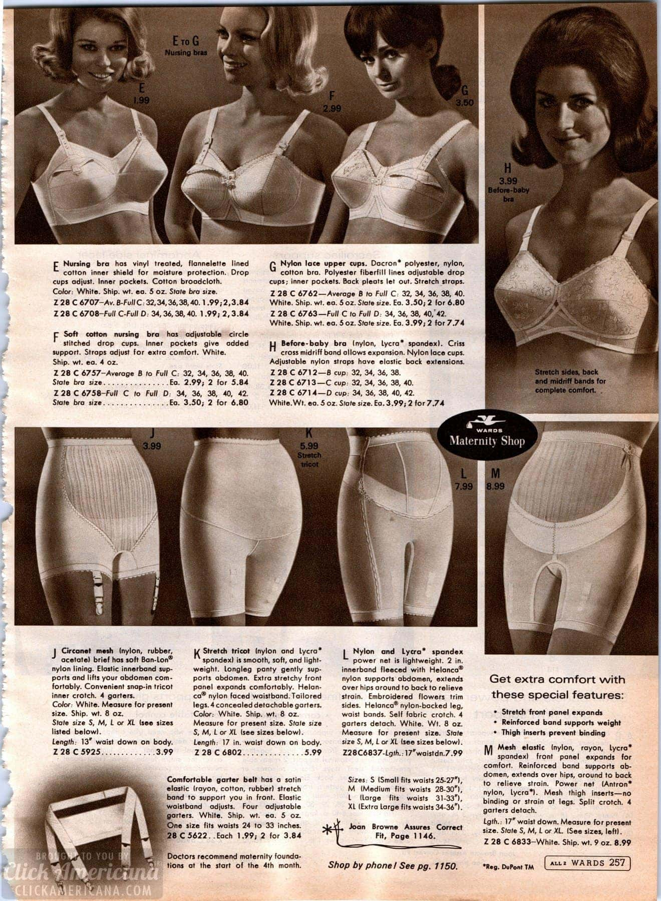 e3c7577e695 Vintage maternity foundation garments and lingerie - nursing bras ...