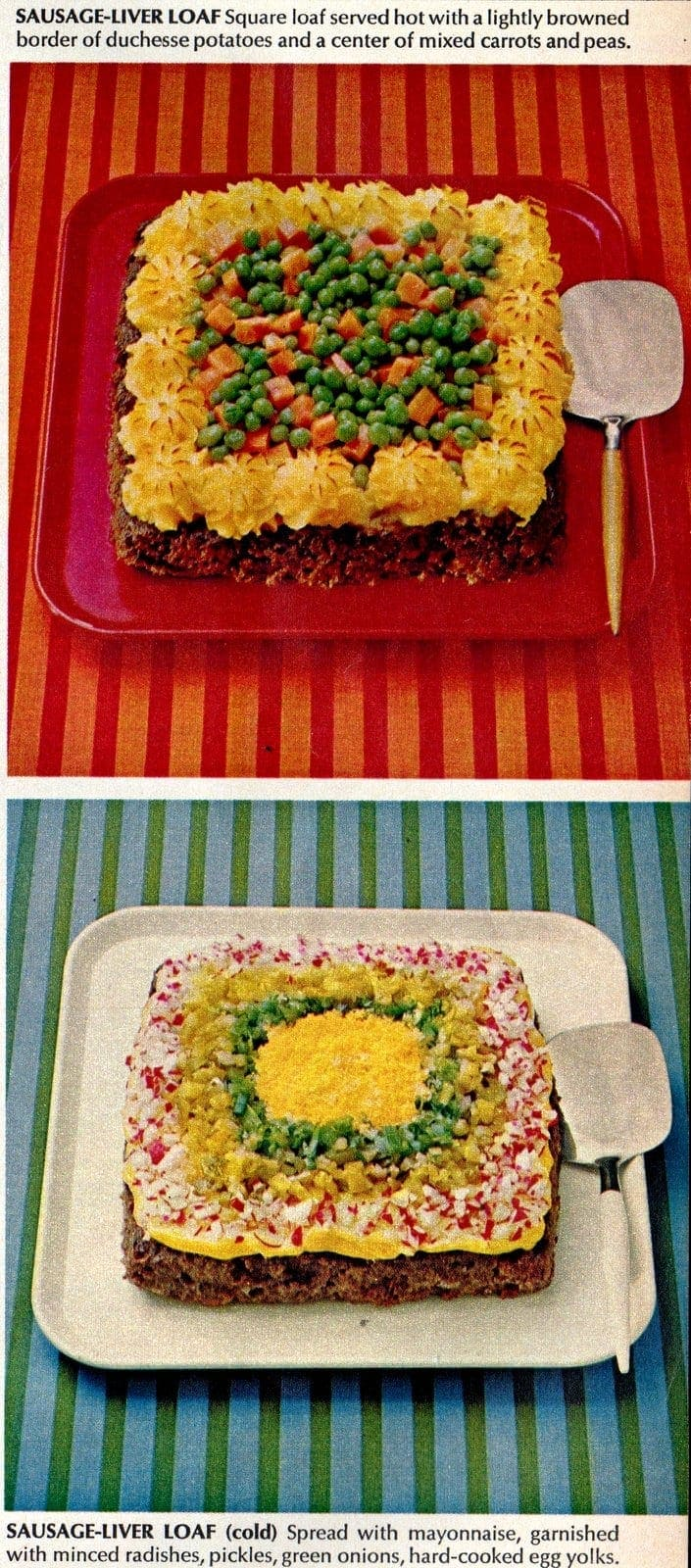 Vintage meatloaf recipe 1967 Sausage-Liver Loaves