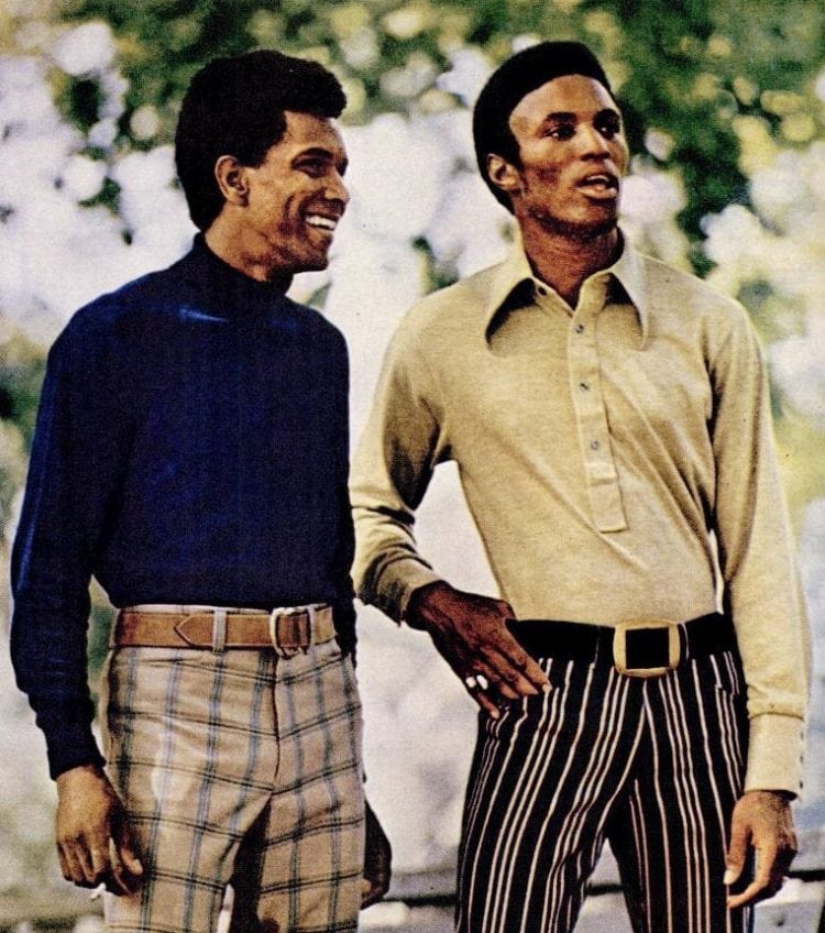 Vintage men's fashion from 1970