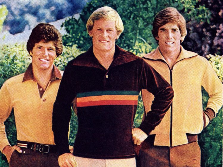Vintage men's sportswear from 1977