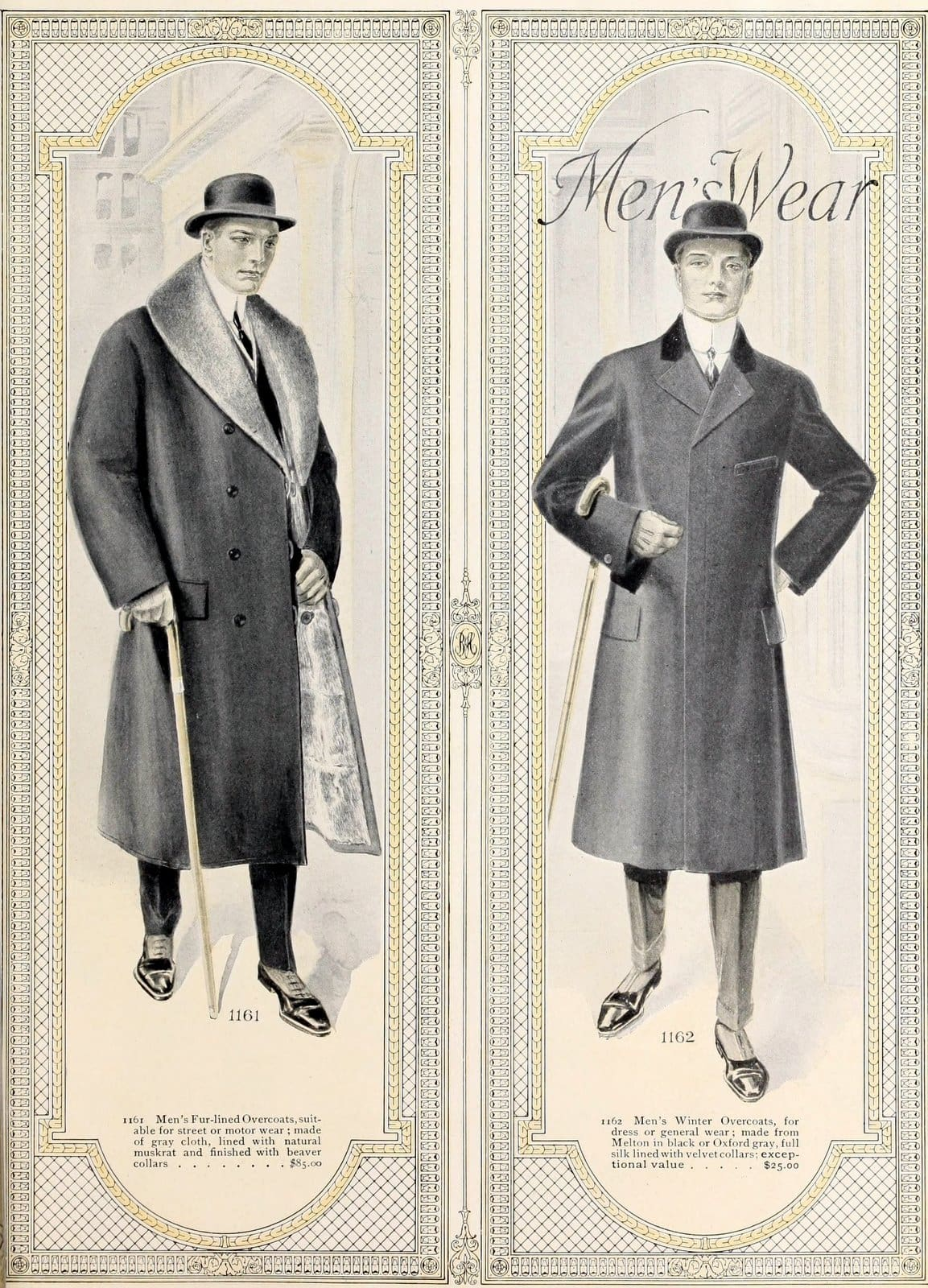 Vintage menswear from 1916