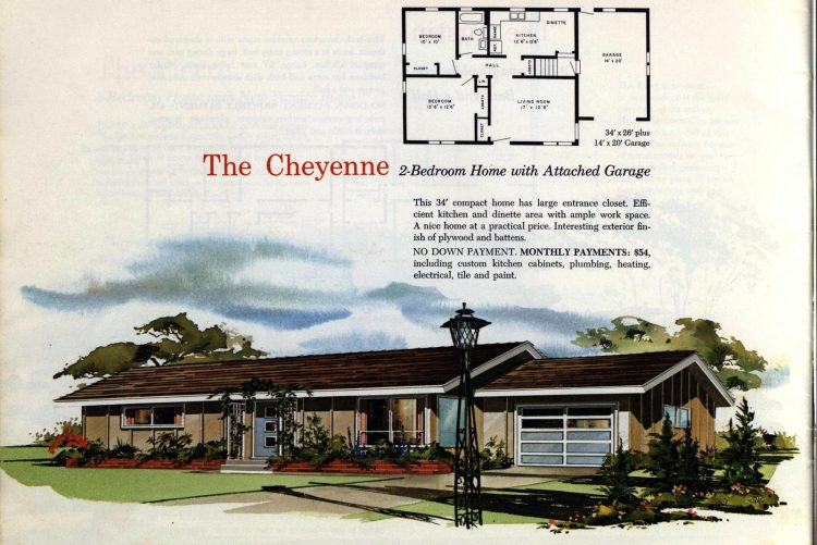 Vintage midcentury 1960s home plans from Collier Barnett in 1963 (1)