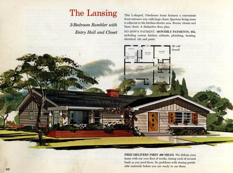 Vintage midcentury 1960s home plans from Collier Barnett in 1963 (10)
