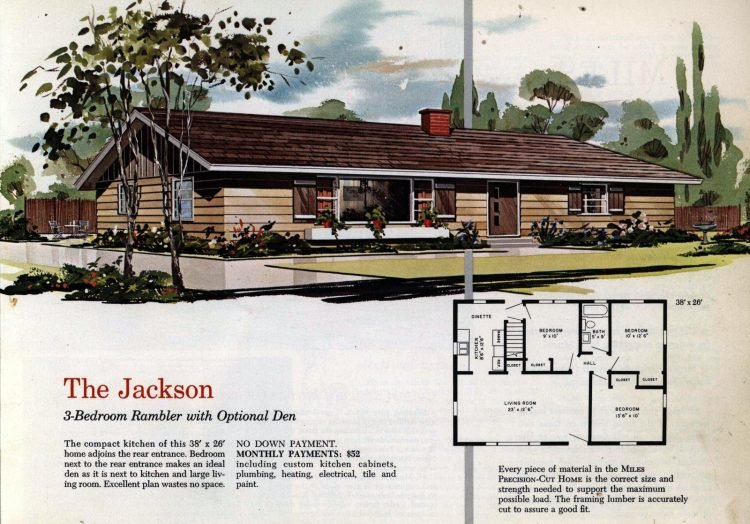 Vintage midcentury 1960s home plans from Collier Barnett in 1963 (11)