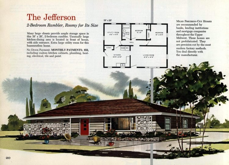 Vintage midcentury 1960s home plans from Collier Barnett in 1963 (12)